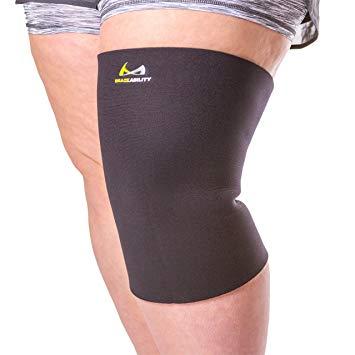 BraceAbility Bariatric Plus Size Knee Brace [XL To 6XL] Compression Sleeve