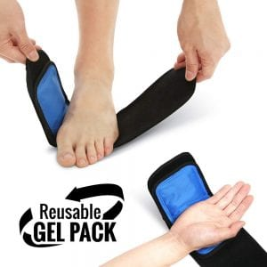 Cold & Hot Therapy Wrap for Sprains, Tendonitis, Bruises & Injuries