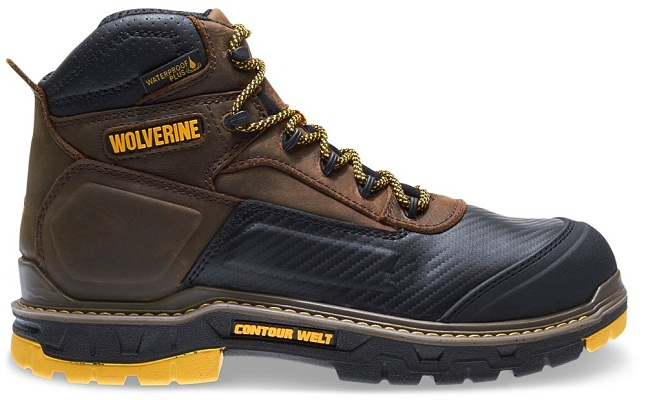 "WOLVERINE Men's Overpass 6"" Composite Toe Waterproof Insulated Work Boot"