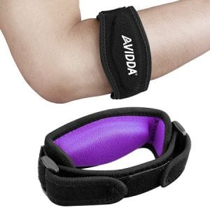 AVIDDA 2 Pack Tennis Elbow Brace with Compression Pad