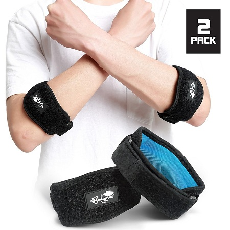 Elbow Brace 2 Pack for Tennis & Golfer's Elbow