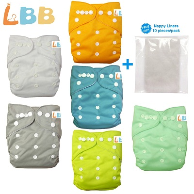LBB Baby Diapers Reusable Cloth Pocket Diapers