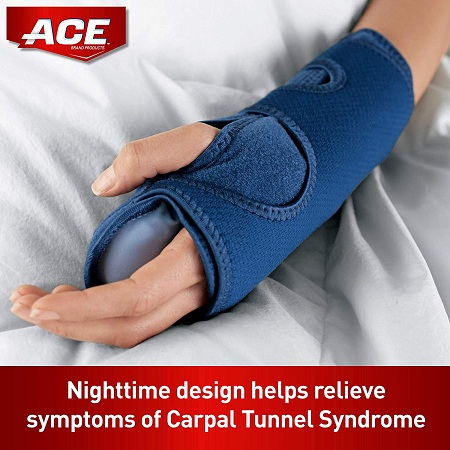 ACE Night Wrist Sleep Support, Helps relieve symptoms of Carpal Tunnel Syndrome