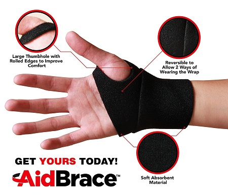 AidBrace Wrist Support Wrap