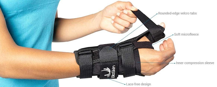 Bioskin Wrist Brace with Thumb Stabilizer