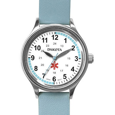 Dakota Women's Nurse Watch with Water Resistant Leather Band