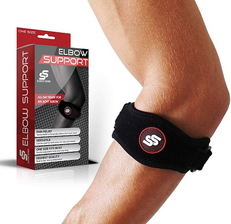 Elbow Brace with Compression Pad for Men & Women