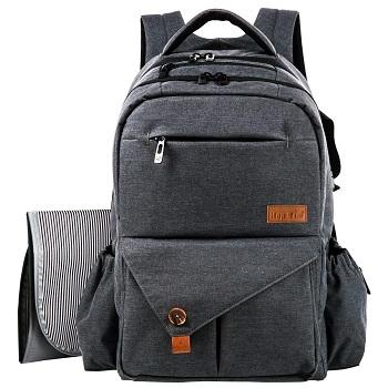 HapTim Multi-function Large Baby Diaper Bag Backpack With Stroller Straps