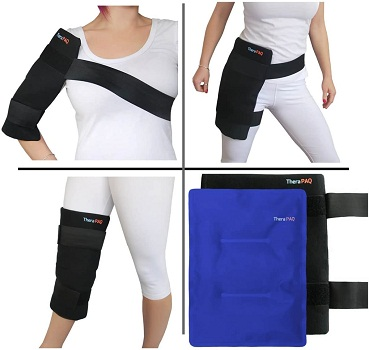 Large Reusable Gel Ice Pack with Wrap by TheraPAQ