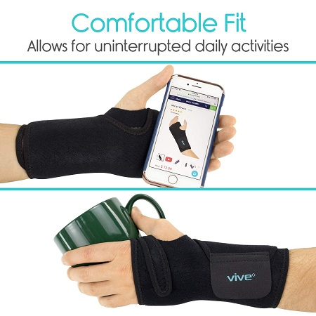 Vive Wrist Brace - Carpal Tunnel Hand Compression Support Wrap