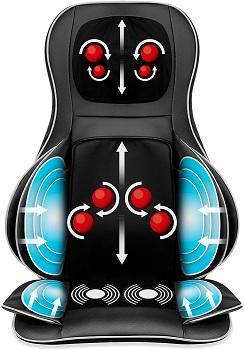 Best Choice Products Air Compression Shiatsu Neck Back Massager Seat Chair Pad Massage Cushion