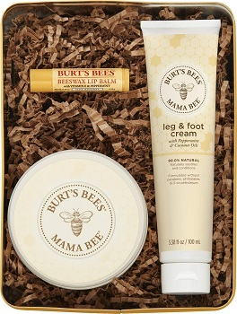 Burts Bees Mama Bee Gift Set with Tin, 3 Pregnancy Skin Care Products
