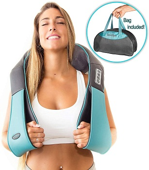 Shiatsu Back Shoulder & Neck Massager with Heat by InvoSpa