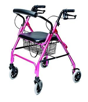 Lumex Walkabout Lite Rollator, Pink