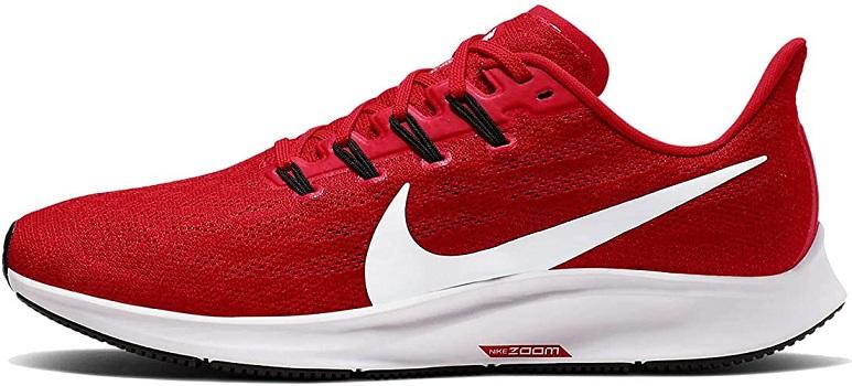 Nike Men's Air Zoom Pegasus 36 Running Shoe University Red-White 12 M US
