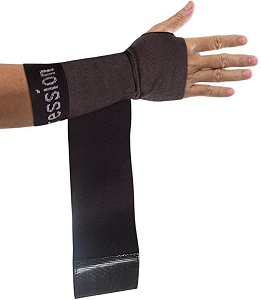 Copper Compression Recovery Wrist Sleeve with Adjustable Wrap for Extra Support