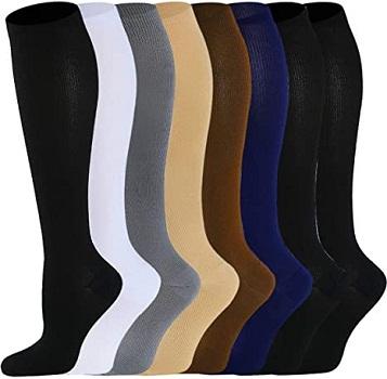 Copper Knee High Compression Socks For Men & Women