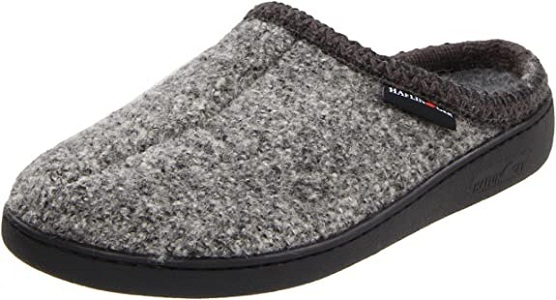 HAFLINGER Unisex AT Wool Hard Sole Slippers With Arch Support