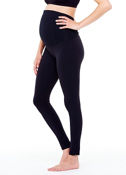 Ingrid & Isabel Women's Maternity Activewear – Active Legging With Crossover Panel