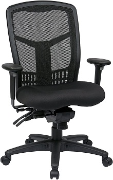 Office Star Back FreeFlex Seat with Adjustable Arms and Multi-Function and Seat Slider