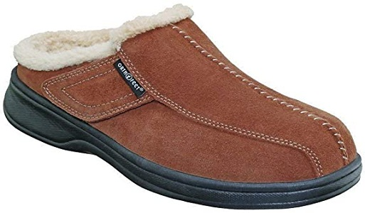 Orthofeet Men's Leather Slippers Asheville