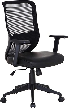VECELO Home Office Chair for Task/Desk Work-Black