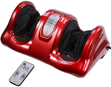 AW Shiatsu Foot Massager Kneading and Rolling Leg Calf Ankle with Remote Control