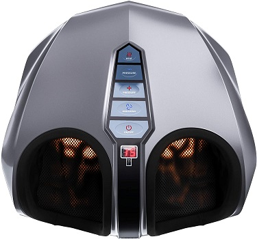 Miko Shiatsu Foot Massager With Deep-Kneading, And Switchable Heat Charcoal Grey