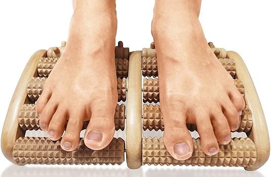 TheraFlow Dual Foot Massager Roller, Relieve Plantar Fasciitis, Stress, Heel, Arch Pain