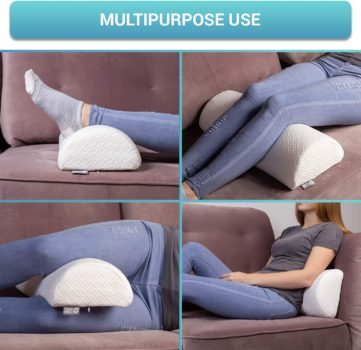 Half Moon Bolster Semi-Roll Pillow - Ankle and Knee Support - Leg Elevation