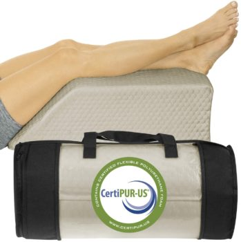 Xtra-Comfort Leg Elevation Pillow - Wedge Elevator Support Cushion for Sleeping, Swelling