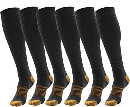 3 Pairs Black Compression Socks For Men