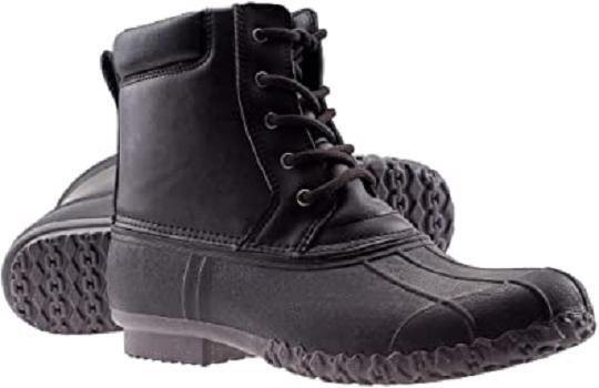 ArcticShield Men's Waterproof Insulated Durable Outdoor Work Rain Winter Snow Duck Bean Boots