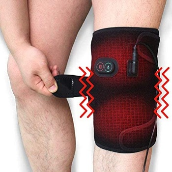 Creatrill Massaging Heated Knee Brace Wrap
