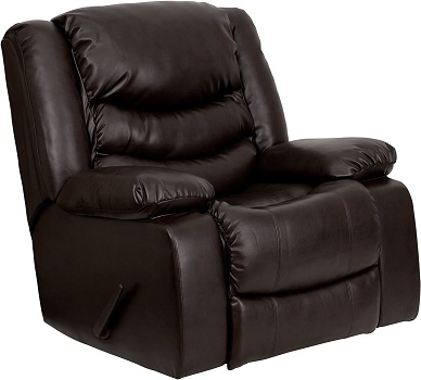 Flash Furniture Plush Brown LeatherSoft Lever Rocker Recliner