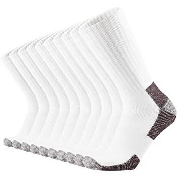 KMM Cotton Moisture Wicking Heavy Duty Work Boot Crew Socks Men 10 Pack