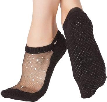 Star Women's Glitter Non Slip Grip Socks