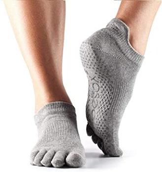 ToeSox Women's Low Rise Full Toe Grip Non-Slip for Ballet