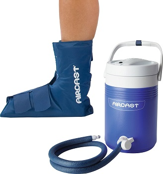 Aircast Cryo/Cuff Cold Therapy: Ankle Cryo/Cuff with Non-Motorized (Gravity-Fed) Cooler