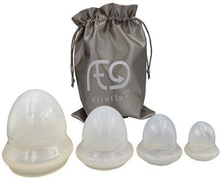 Airoflux 4 Piece Silicone Cupping Set Used by Professionals