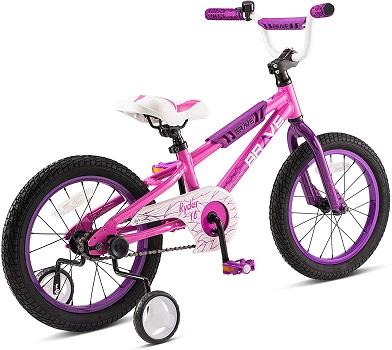 "Brave 16"" Freestyle Very Pink BMX Kids Bike for Girls"