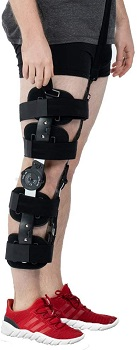 Hinged ROM Knee Brace With Strap