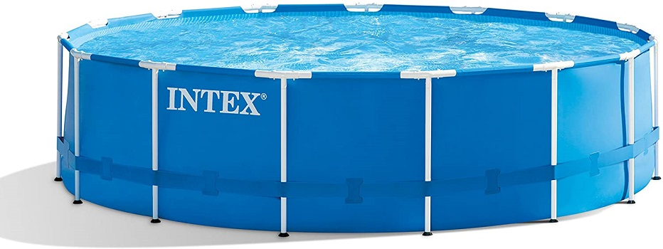 Intex 15ft x 48in Metal Frame Permanent Above Ground Pool