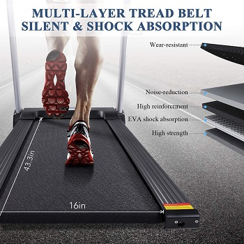 MaxKare Folding Electric Treadmill