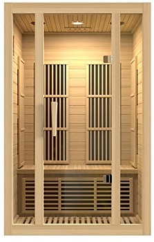 Maxxus Saunas MX-J206-01 Seattle Carbon Far Infrared Sauna for 2 Persons