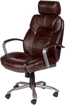 OneSpace Commodore II Big & Tall Leather Executive Office Chair