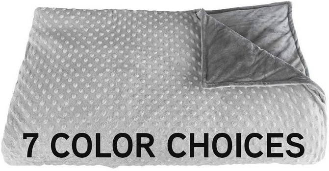 "Premium Weighted Blanket, Perfect Size 60"" x 80"" and Weight (12lb) for Adults and Children"