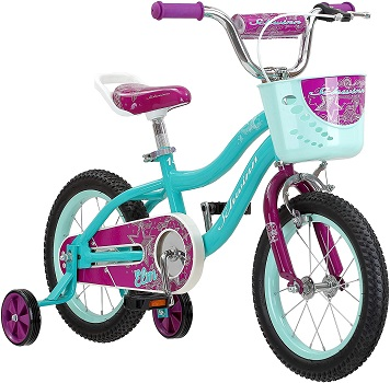 Schwinn Elm Girls Bike for Toddlers and Kids, 12, 14, 16, 18, 20 inch wheels for Ages 2 Years and Up
