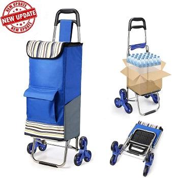 TOMSER Folding Shopping Cart