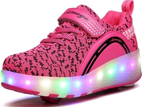 VMATE LED Light Up Roller Skate Shoes